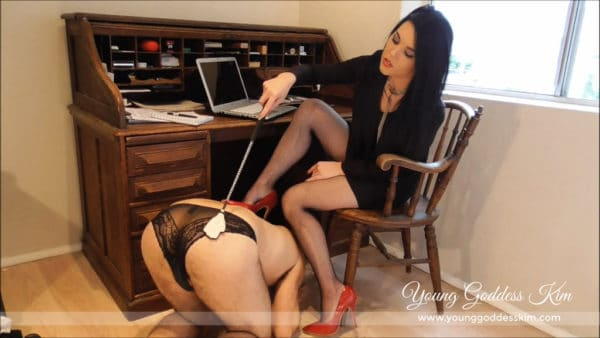 Office sissy for Goddess Kim